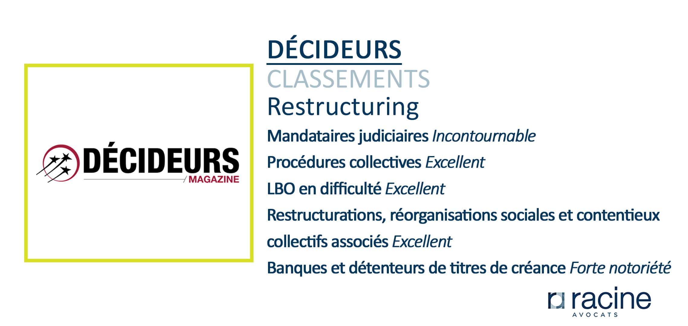 Décideurs Classement Restructuring