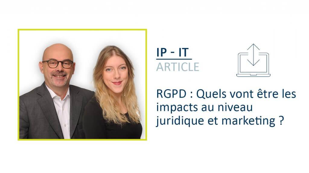 RGPD Quels vont être les impacts au niveau juridique et marketing EB ML