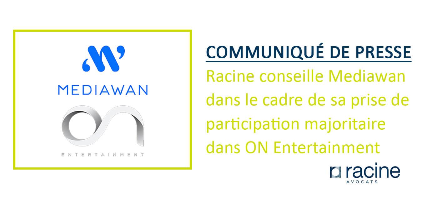 Communiqué de presse- Mediawan pour ON Entertainment