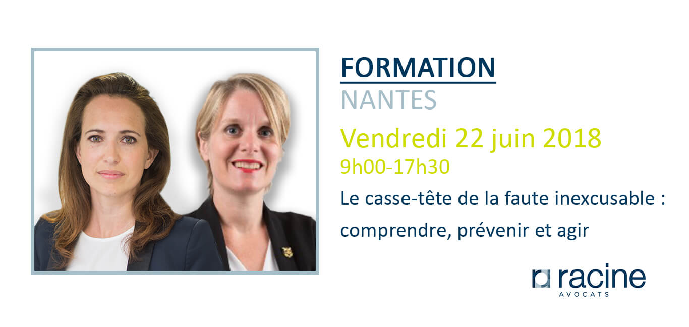 Formation Nantes - faute inexcusable