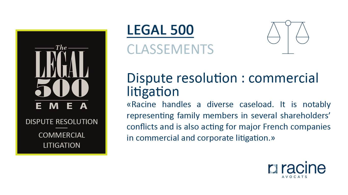 legal 500 - contentieux - 2018 - Racine