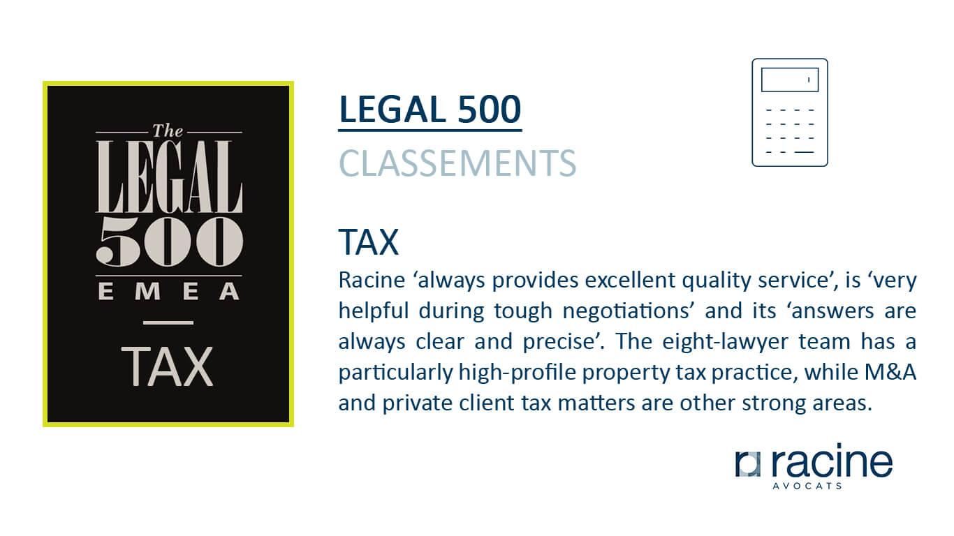 legal 500 - Tax - Racine