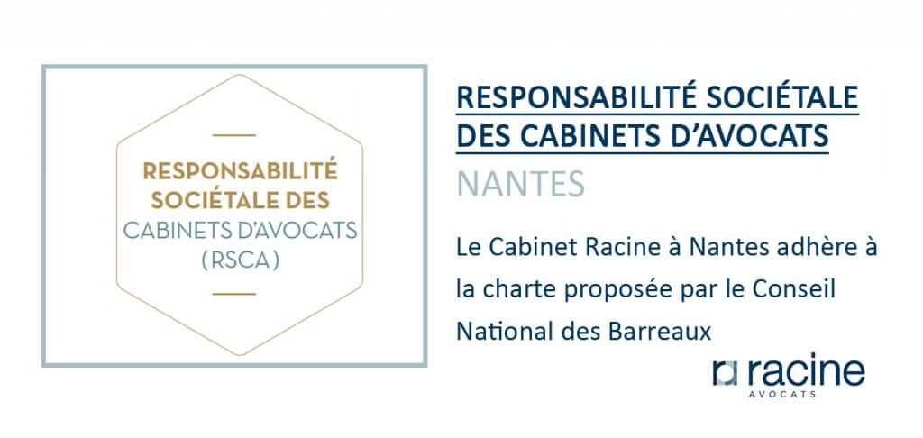 Responsabilité Sociétale des Cabinets d'Avocats Nantes
